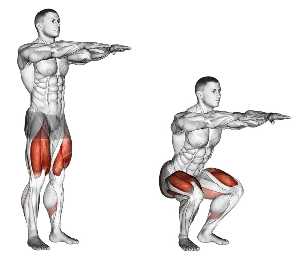 Bodyweight Squats | Sporto Namai